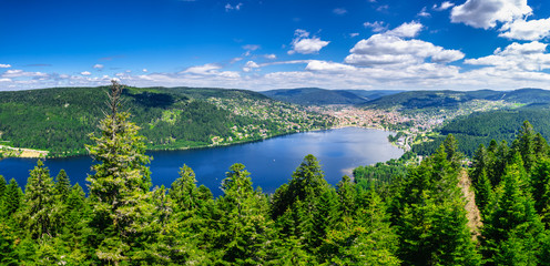 Incredible nature around Gerardmer lake in Vosges mountains, France Wall mural