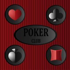 seamless pattern on poker