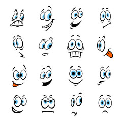Cartoon eyes with expressions and emotions