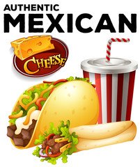Authentic mexicon food on poster