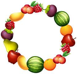 Frame design with fresh fruits