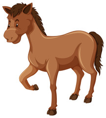 Horse with brown fur