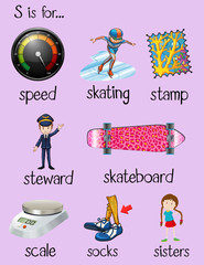 English words begin with letter S