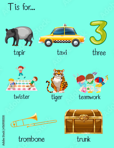 6 letter words starting with t quot letter t and many words on poster quot stock image and 1059