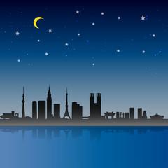Tokyo City Night Scene