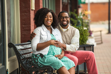 African American Pregnant Couple