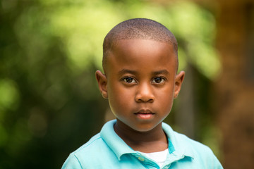 African American little boy.