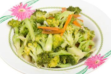 Closeup Fried Broccoli