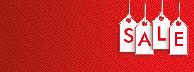 Hanging Price Stickers Sale Header