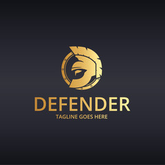 Defender logo. Spartan logo. Warrior logo