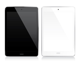 White and black tablets set