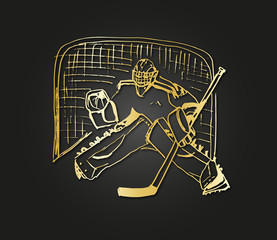 hockey golden goalkeeper