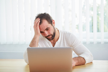 Tired man under stress