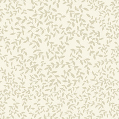 Light floral pattern with leaves