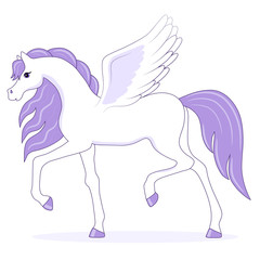cartoon fairy pegasus