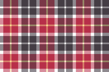 Red and gray check fabric seamless texture