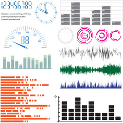 Set of vector design elements - equalizers and scales