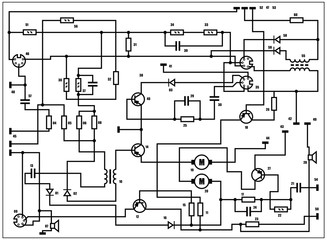Electric scheme - vector background