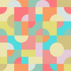 Seamless Tile of an Abstract Pattern with Squares, Rectangles an