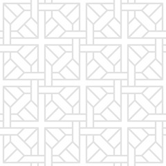 Tesselate Pattern of Gray Geometric Shapes on a White Background