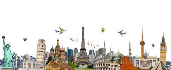 Fototapete - Famous landmarks of the world