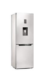 Vertical shot of a closed refrigerator