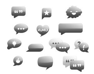 Speech bubbles   Message