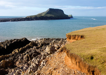 Worms Head, Rhossili, Gower, South Wales, UK