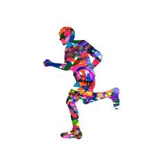 vector illustration of man running