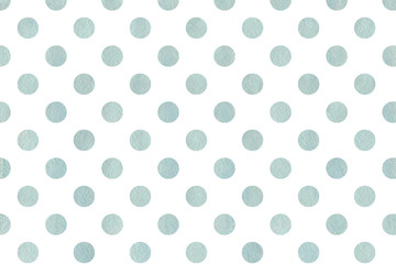 Watercolor blue polka dot background.