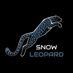 Snow Leopard vector illustration logo, sign, emblem