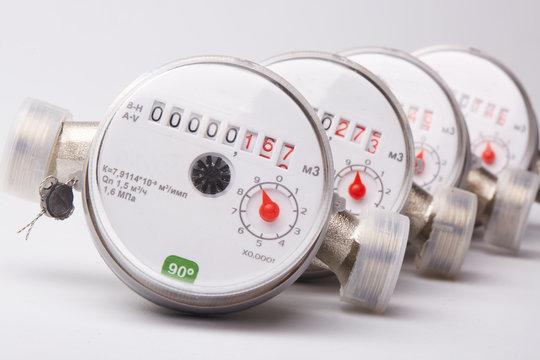 Water meters.