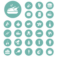 Set of twenty seven food icons