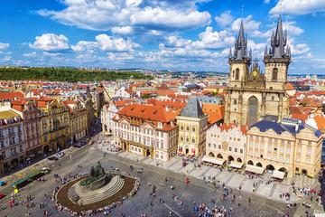 Fotobehang Praag Town Square in Prague Prague, Czech Republic