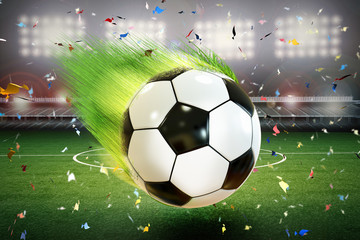 soccer ball with motion line