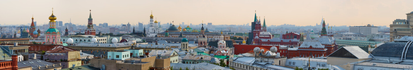 Panorama roof in the center of Moscow overlooking the Kremlin