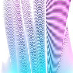 Abstract Line Background Vector Illustration. Color Background.