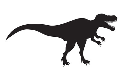 picture of silhouette of Tyrannosaurus