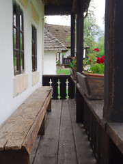 traditional rural romanian house porch