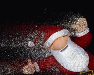 3D glitter Santa Claus