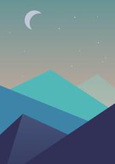 Flat simple landscape background.