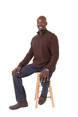 Portrait of a handsome african american middle aged man