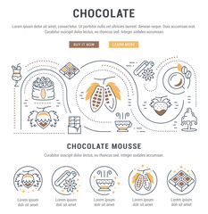 Website Banner and Landing Page Chocolate