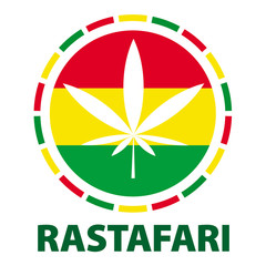 Marijuana leaf in rastafari colours, vector illustration