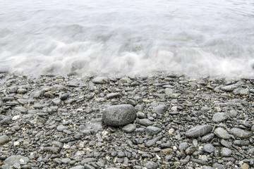 Sea waves on stones