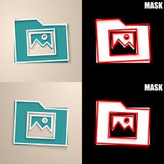 papierowa ikona z cieniem