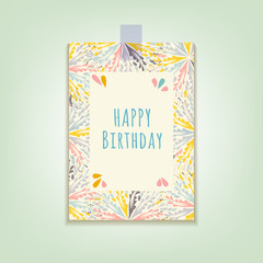 The greeting card Happy Birthday. Vector.