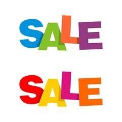 Colorful Sale Letter Signage