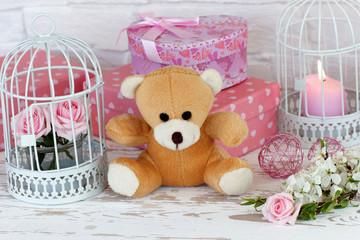Fototapete - Geschenke für das Baby