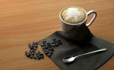 coffee 3D rendering